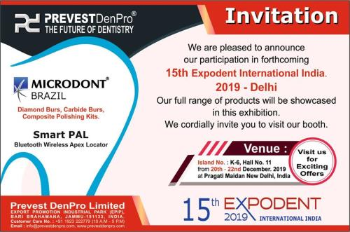 15th Expodent International India 2019